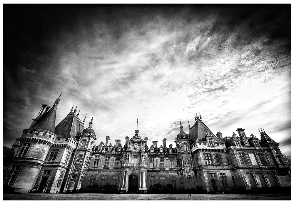 Black and White Stately Home
